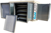 Evaporative air cooler with high efficiency air filters for large premises - ColdAir F-series