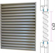 Door/window panel external intake louvres CzP