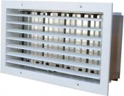 Wall grille ST-W/G with adjustable blades and damper