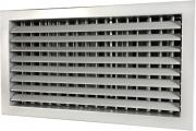 Wall grille with two rows of adjustable blades and damper ST-WS/G, ST-SW/G