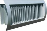 Grille with adjustable blades and cantilevered damper on the spiral duct STS-S/G