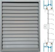 Door/window panel louvre with adjustable blades ZSR/P