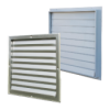 External exhaust louvres
